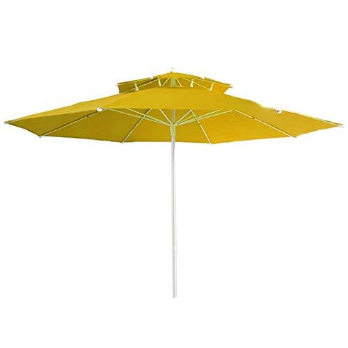 Wsaman Parasol Parasol Colgante, Sol Sombra De Sol Protección Solar para Exteriores/Jardines/Balcón/Patio Jardín Rectangular Sombrilla,Amarillo