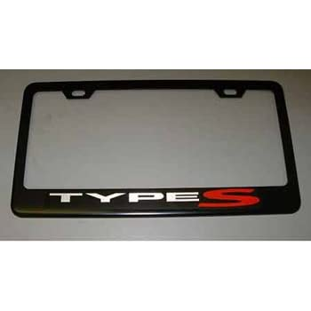 Fit Acura Type S Matt Black License Plate Frame with Caps
