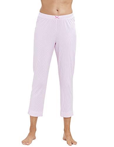 Damen Pyjamahose 7/8-Länge Aurora Pink 42