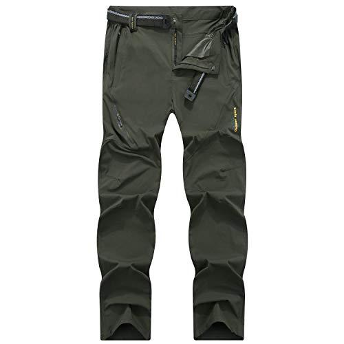 SUKUTU Pantaloni da Trekking da Uomo Montagna Escursionismo Leggero Traspirante Asciugatura Rapida All'aperto Pantaloni Estivi Impermeabili