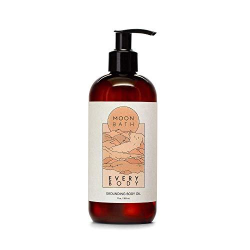 EVERY BODY Grounding Body Oil   Sunflower, Jojoba, Marula & Moringa Oils combined w/Sandalwood & Cypress to Calm, Nourish & Restore Skin. Organic & Clean Beauty. No Synthetic Fragrance, 12 oz.