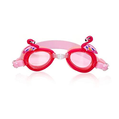 LANGTAOMY Gafas de Natación Niños Gafas de baño Gafas de natación Gafas de Sol Anti Fog Protección UV Mascarilla de Entrenamiento para niños Cajas de Gafas Bee Cangrejo Pescado Dolphin Gafas
