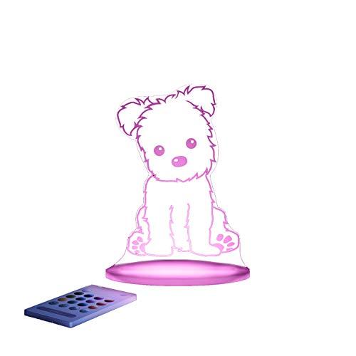Puppy Aloka Sleepy Night Light 12 LED colors