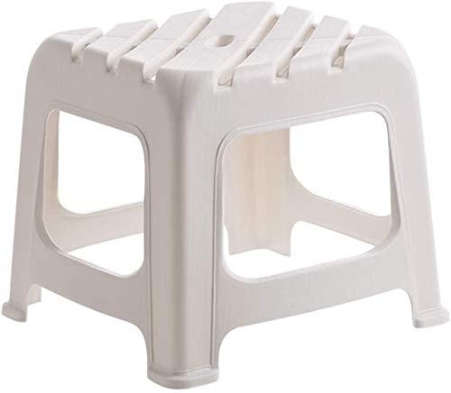 ZCM Almohadilla para Taburete para Pies, Diseño Inferior Antideslizante, Material Fabricado En PP, Cambio De Taburete para Zapatos/Taburete para El Hogar(Color:Blanco)