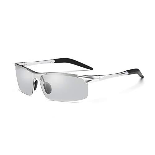 Fintass Mannen fotochrome zonnebril met gepolariseerde Lens Mode zonnebril voor Camping Fietsen Reizen Gebruik