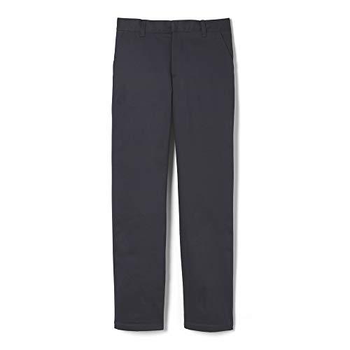French Toast boys Adjustable Waist Work Wear Finish Relaxed Fit (Standard & Husky) Pants, Heather Gray, 12 Husky