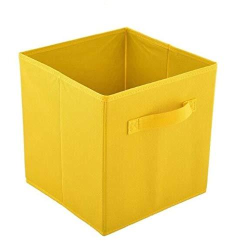 Opvouwbare-non-woven opbergdoos kast kubus prullenbak opbergdoos kinderspeelgoed opslag vat opslag kantoor 5PCS,Yellow