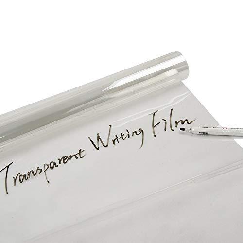 HOHO 90cmx300cm transparent Whiteboard Folie Dry Erase Kontakt Papier, Graffiti Hintergrundbilder für Büro, Zuhause und Schule