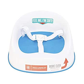 Prince Lionheart Squish Booster Seat Berry Blue 3-Point Harness and Dual-Strap System Easy to Wipe Clean and Lightweight