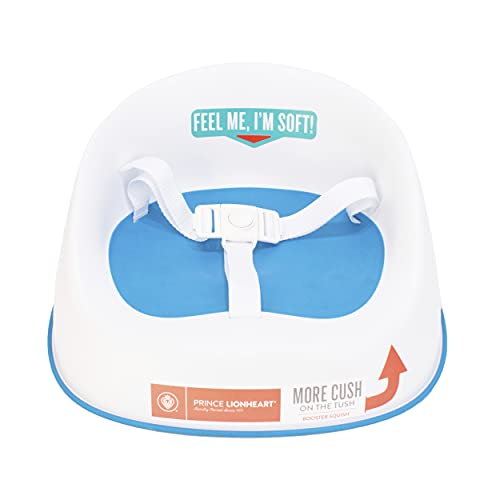 Prince Lionheart Squish Booster Seat, Berry Blue, 3-Point Harness and Dual-Strap System, Easy to Wipe Clean, and Lightweight