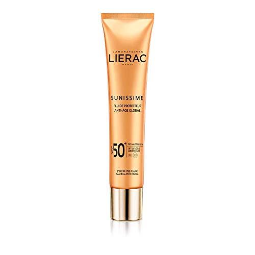Lierac Sunissime Fluido Solare Viso SPF50+ Anti Età, Protezione UVB, UVA, Infrarossi, per Tutti i Tipi di Pelle, Formato da 40 ml
