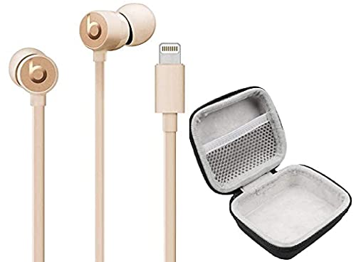 urBEATS 3 Beats in-Ear Wired Earphones with Lightning Connector Plug - Built in Mic & Deluxe Case (Matte Gold)