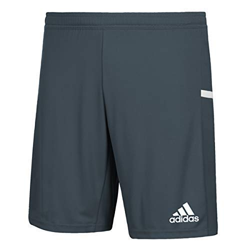 adidas Male Team 19 Knitted Shorts , Grey/White , M