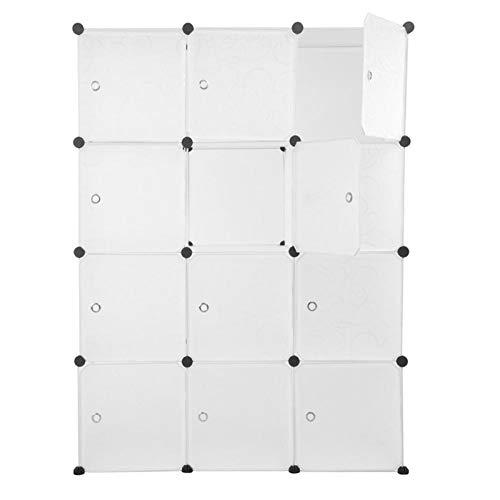 PDVCB Plastikaufbewahrung Kleiderschrankregal DIY wasserdichte Haushaltsraum-Cube-Manager-Kleider-Kleiderschrank-Schrank