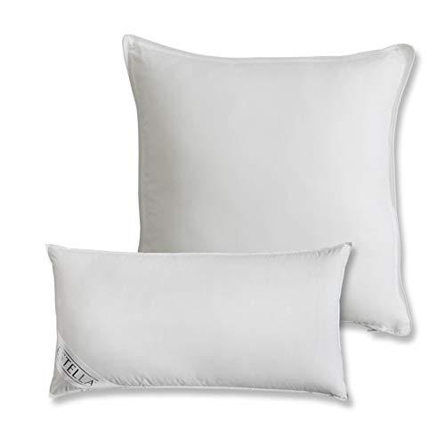 ESTELLA Kissen Premium | weiß | 80x80 cm | Daunen und Federn Kissen | Bezug aus 100% Baumwolle | Füllung aus 90% Daunen und 10% weißen Gänsefedern