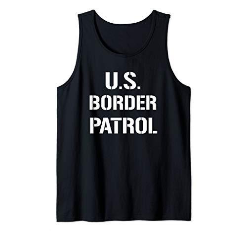 US Border Patrol Customs Immigration Halloween Costume Tank Top