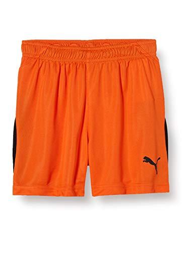 Puma Liga - Pantalones Cortos Unisex para niño, Primavera/Verano, Liga JR, Unisex niños, Color Golden Poppy-puma Black, tamaño 116