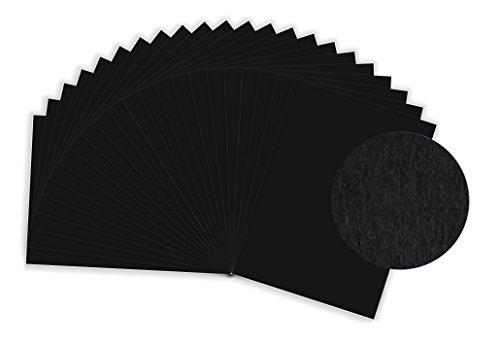 MySumico Fotokarton - 300g/m² - DIN A2-10 Bogen - schwarz - für Kindergärten und Schulen - zum Basteln, Gestalten und Designen