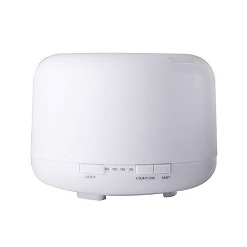 Aromatherapy poêle, lampe à parfum plug-in diffuseur d'arôme spray maison chambre aromathérapie silencieuse machine simple ronde veilleuse, 500ml (Color : Blanc, Size : 16.8 * 12.1cm)