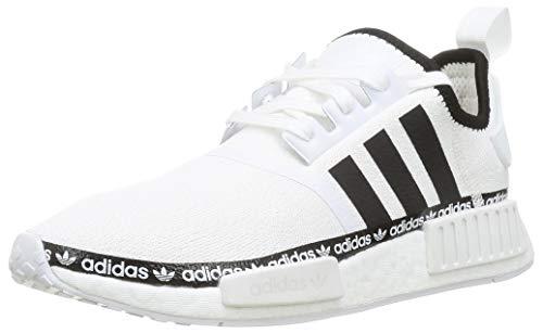 adidas NMD_R1, Sneaker Hombre, Footwear White/Core Black/Footwear White, 40 2/3 EU