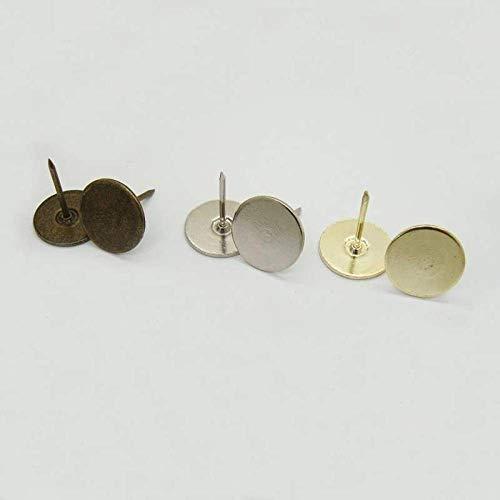Groene patina schuim nagel, zachte verpakking antieke decoratieve nagel, platte kop nagel, ronde nagel, grote koperen koper, nagel bank nagel, behang nagel-Diameter 19 mm * totale lengte 15 mm