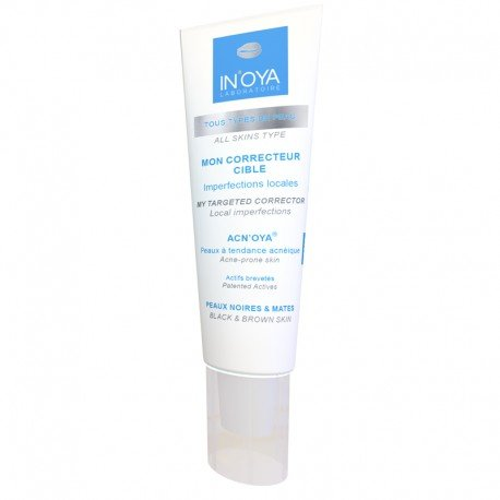 Mon Correcteur ciblé ACN'OYA – Peaux noires et mates – Crème anti-boutons pour le visage, dos et le corps – Soin pour le visage anti-acné qui purge les boutons en 15 jours – 15 ML