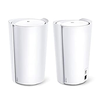 TP-Link AX6600 Deco Tri-Band WiFi 6 Mesh System Deco X90  - Covers up to 6000 Sq.Ft Replaces Routers and Extenders AI-Driven and Smart Antennas 2-Pack