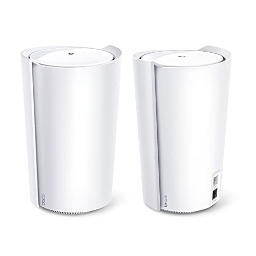 TP-Link AX6600 Deco Tri-Band WiFi 6 Mesh System(Deco X90) - Covers up to 6000 Sq.Ft, Replaces Routers and Extenders, AI-Driven and Smart Antennas, 2-Pack