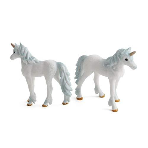 TOPofly Linda de los Animales Modelo de Juguete, Pequeño Animal House Figuras Unicornio Permanente Juguete para los niños Los niños pequeños Niños Mano púrpura Pintura