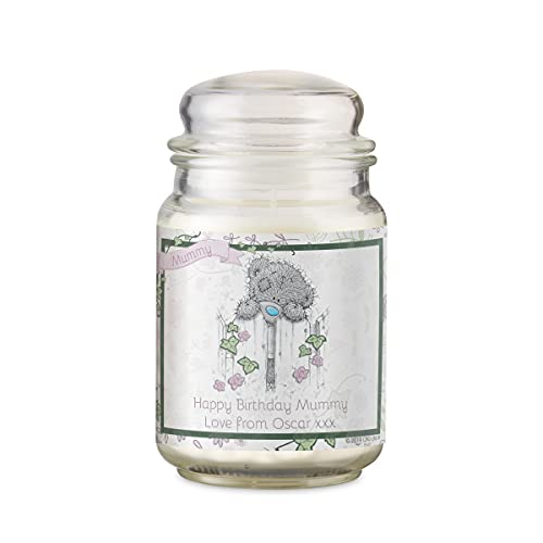 Fully Personalised French Vanilla Scented Jar Candles with Lid | Me To You | Tatty Teddy | Carte Blanche (Secret Garden)