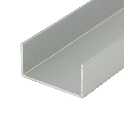 Outwater Alu578-S Satin Fin 1-3/8 Inch Inside Dimension Mldg Aluminum U-Channel/C-Channel 36 Inch Lengths (Pack of 4)