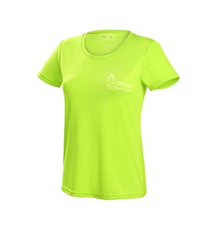 Black Crevice T-Shirt Fonctionnel pour Femme Lime1 Taille 42