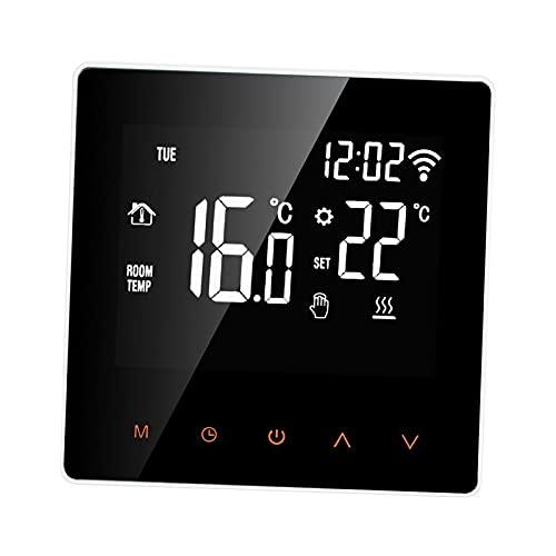 FLAMEER Termostato inteligente para trabajo en casa inteligente con Wifi programable de 7 días: Tuya libre para elegir modo manual o Modo