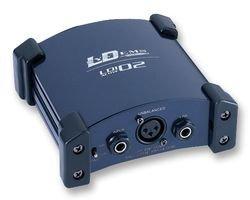 LD Systems LDI02 Aktiv DI-Box stabilen Metallgehäuse mit Schutzecken blau