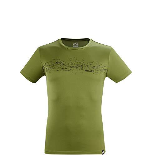 Millet Rolling Clouds T-Shirt, Fern, S Mens