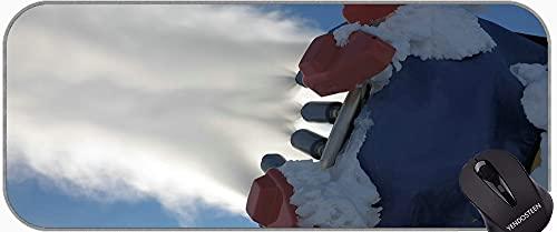 Alfombrilla de ratón extendida XXL, Armas de Armas de cañón de la Nieve Almohadilla de Alfombrilla de ratón con Bordes cosidos