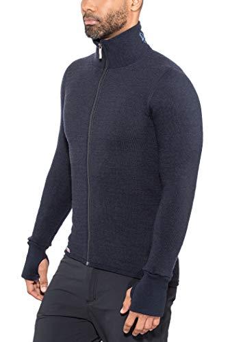 Woolpower Full Zip Jacket 400 - Veste Ouverture Complète Manches Longues Ullfrotté - Taille L - Marine