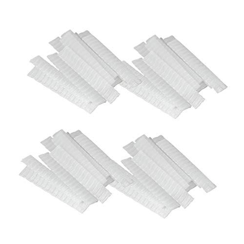 Minkissy Pinceaux de Maquillage Stylo Garde Protecteur 100 Pcs Pinceaux de Maquillage Net Protecteur Maquillage Cosmétique Pinceau Couvercle du Stylo Cap (12X1 Cm)