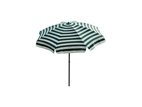 Maffei Art 72 Mare, Parasol Rond diamètre cm 200, Tissu dralon, Made in Italy. Couleur Blanc/Vert