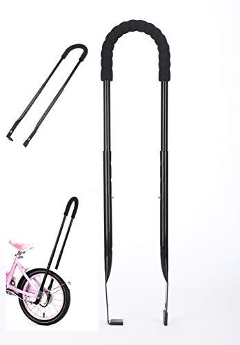 MOSHAY Kinderfahrrad Schiebe und Fahrrad Fahren Lernhilfe universale Schiebestange überall passend(Black)