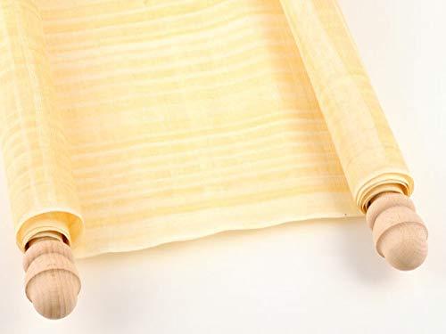 Forum Traiani Schriftrolle 90x20cm, Papyrusrolle beschreiben, Papyrus mit zwei Holzstangen, Geburtstags-Gutschein klein - Hochzeit-Rolle für Hochzeitseinladungen, Papyri Hochzeitskarte groß