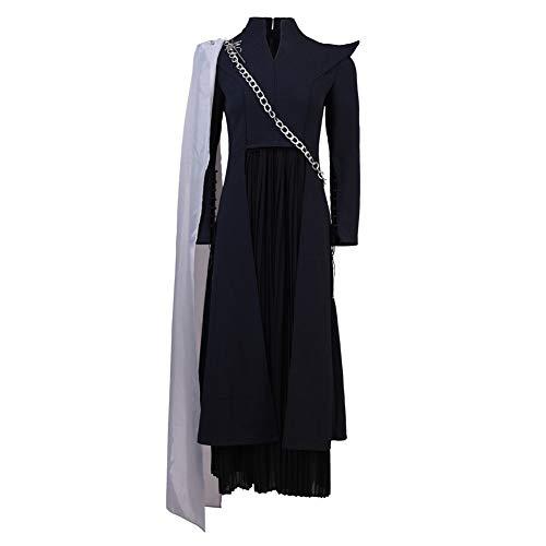 starfun Game of Thrones Daenerys Targaryen Dress Cosplay Costume Dragon Mother Full Set Suit (Female: Large, Gray)