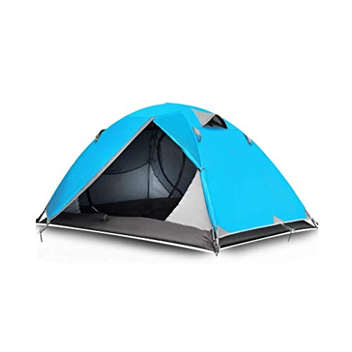 YDHWY Tent - Easy & Quick Setup Camping Tent, Professional Waterproof Windproof Fabric, Anti-UV, Double Layer (Color : Blue)