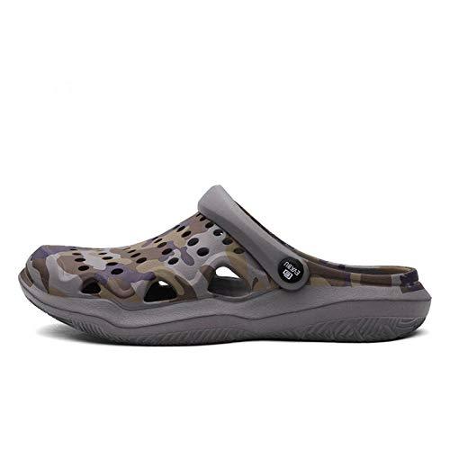 N-B Zapatos de hombre Zapatos de verano Zapatillas de hombre Transpirables Antideslizante Muller Zapatos de jardín de los hombres Sandalias de playa casuales