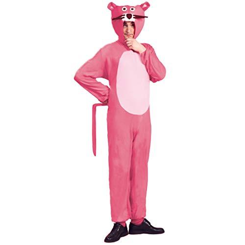 NET TOYS Pink Panther Kostüm | Rosa in Größe M (48/50) | Originelles Unisex-Outfit Paulchen Panther geeignet für Straßenkarneval & Après-Ski