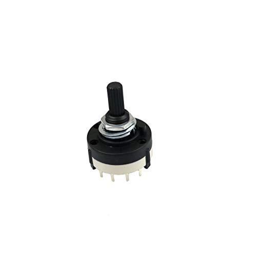 Drehschalter Stufenschalter Schalter Switch Pole Stellung Schaltstufen (Schaltstufen 2x6)