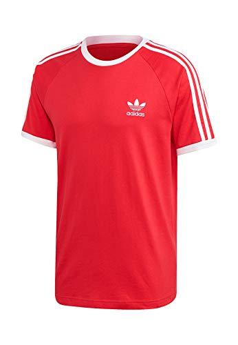 adidas 3-Stripes Tee, T-Shirt Uomo, Lush Red, XS