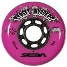 Seba Street Invader - Ruedas de Patinaje en Línea (4 Unidades), Color Rosa