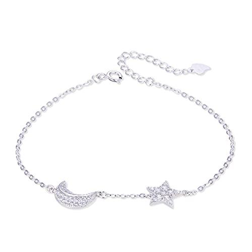 Pulsera de plata de circonio S925 con diseño de estrellas de Braclet para mujer