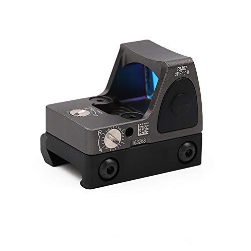 LED regolabile Red Dot, Red Dot Sight RMR 3-25 MOA Reflex Sight Gamma di pistole a luminosità regolabile con supporto grigio